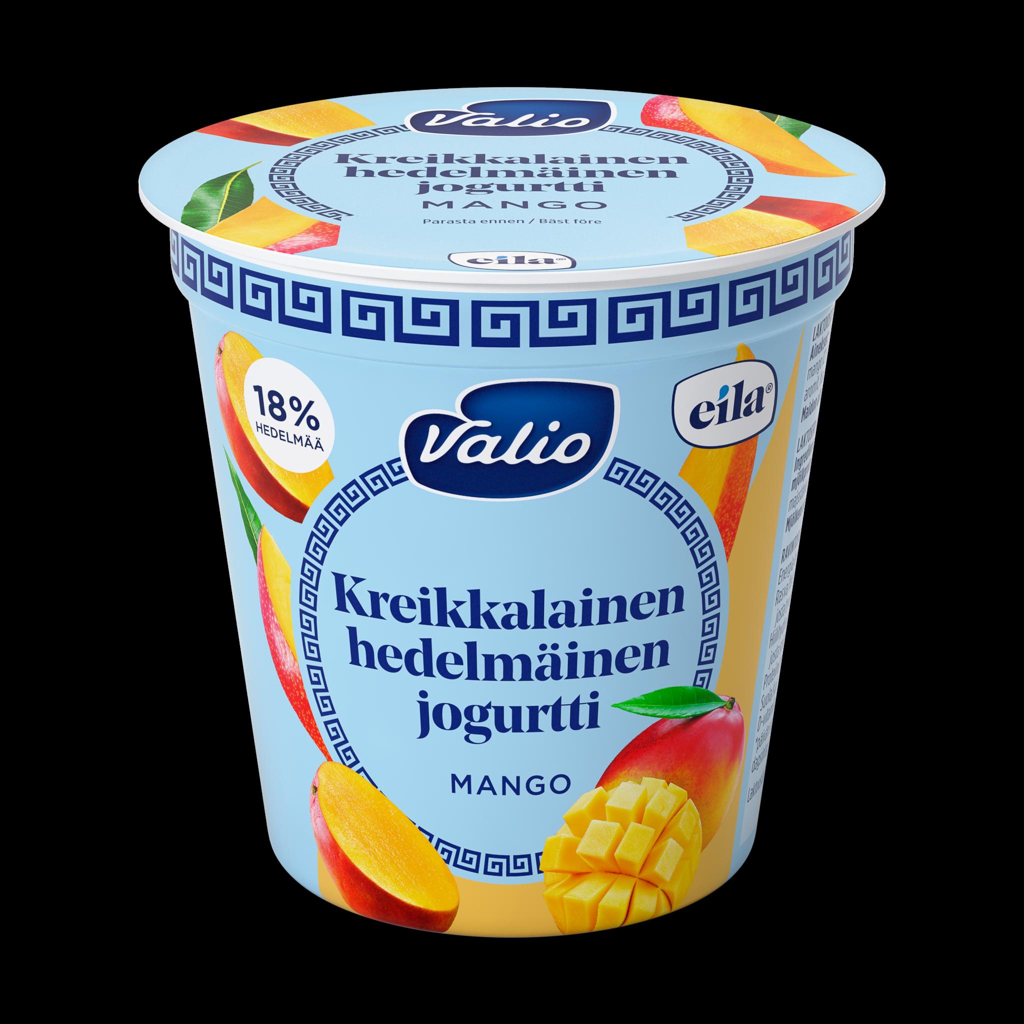 Valio kreikkalainen hedelmäinen jogurtti mango laktoositon