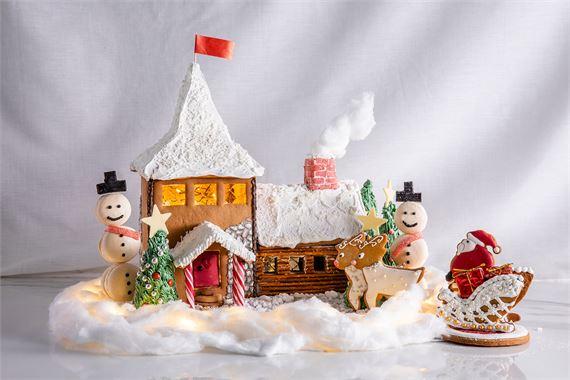 Haastetta rakentamiseen – rakenna valaistu miniatyyri oikeasta Joulupukin pajasta