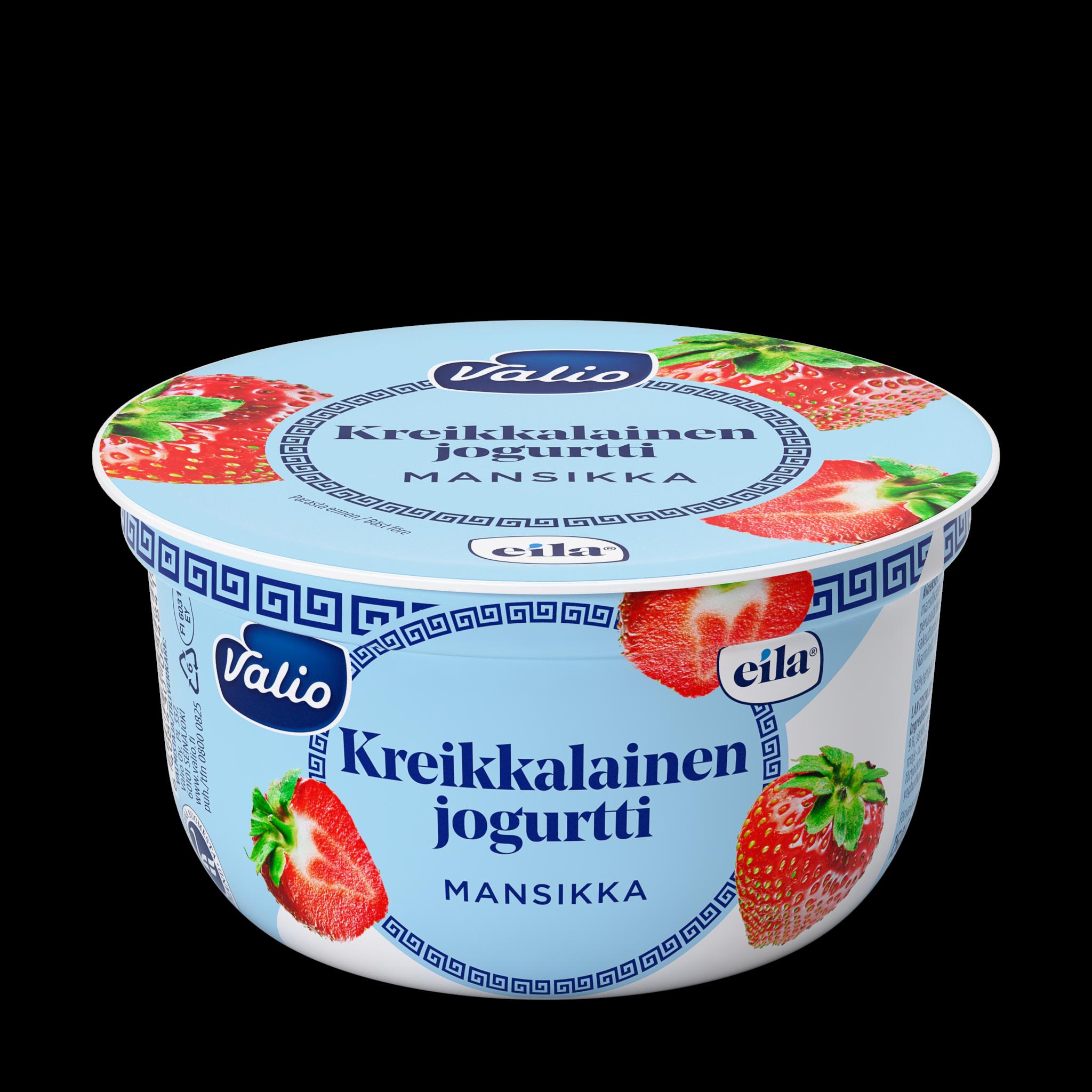 Valio kreikkalainen jogurtti mansikka laktoositon