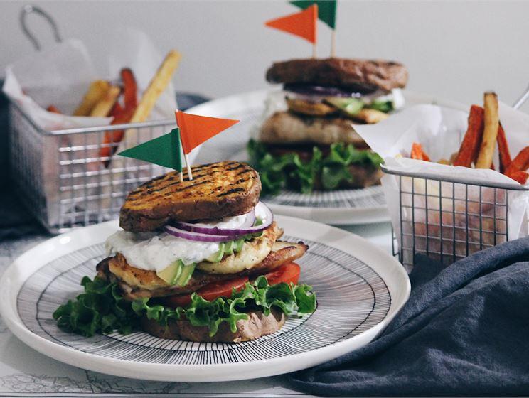 Marin bataatti-kanaburgerit