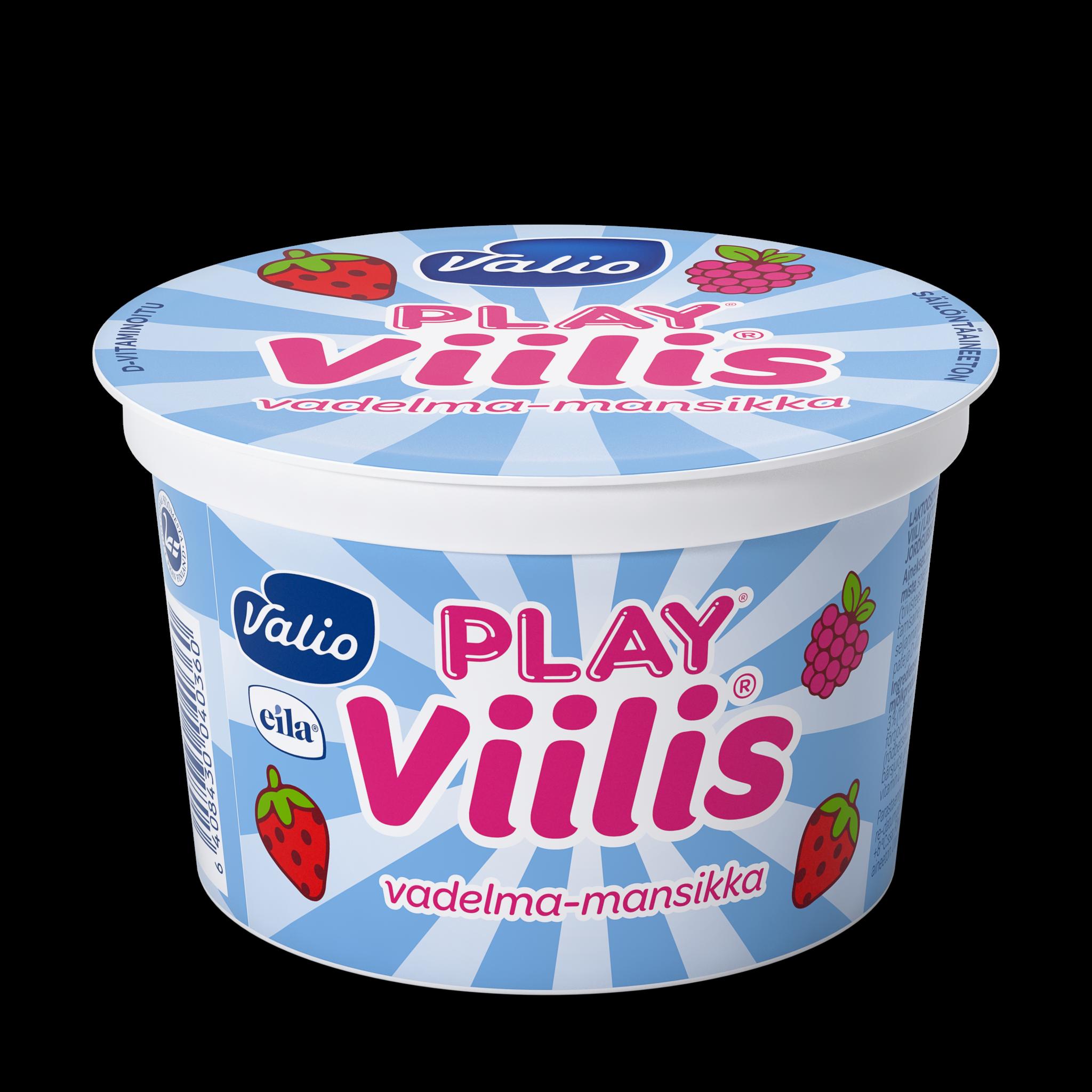 Valio Play® Viilis® vadelma-mansikka laktoositon