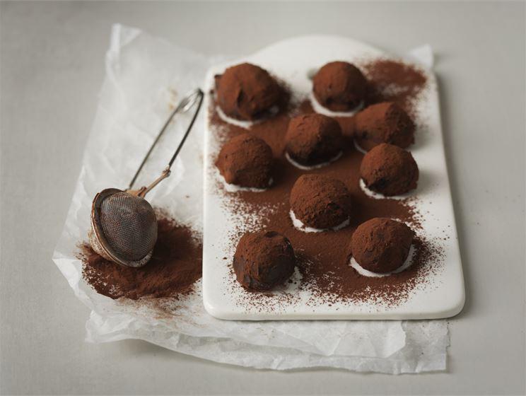 Chokladtryffel med havssalt