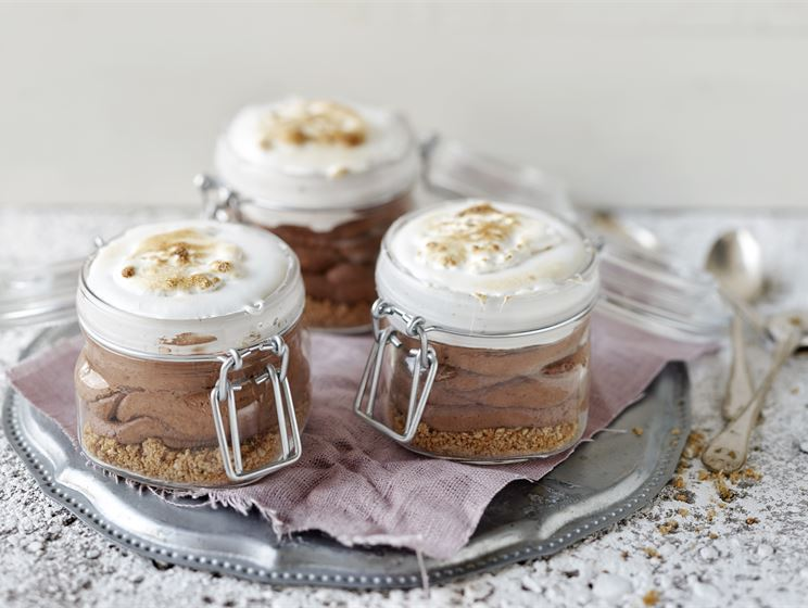 S'mores cheesecake i glas