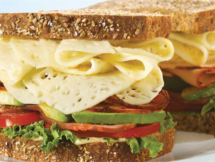 Tasty Lacey Swiss Cheese BLT Sandwich