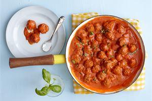 Tomaattiset minilihapullat lapsille