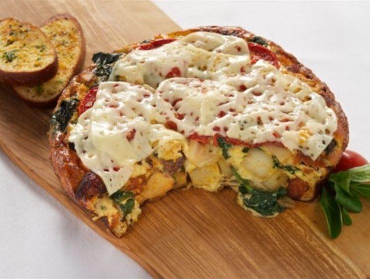 No-Flip Tortilla Espanola with Lacey Swiss