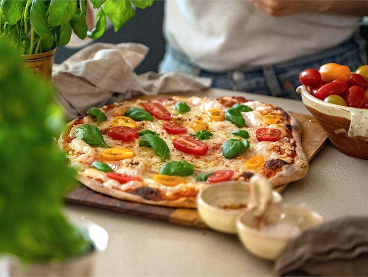 Vegansk pizza Margherita