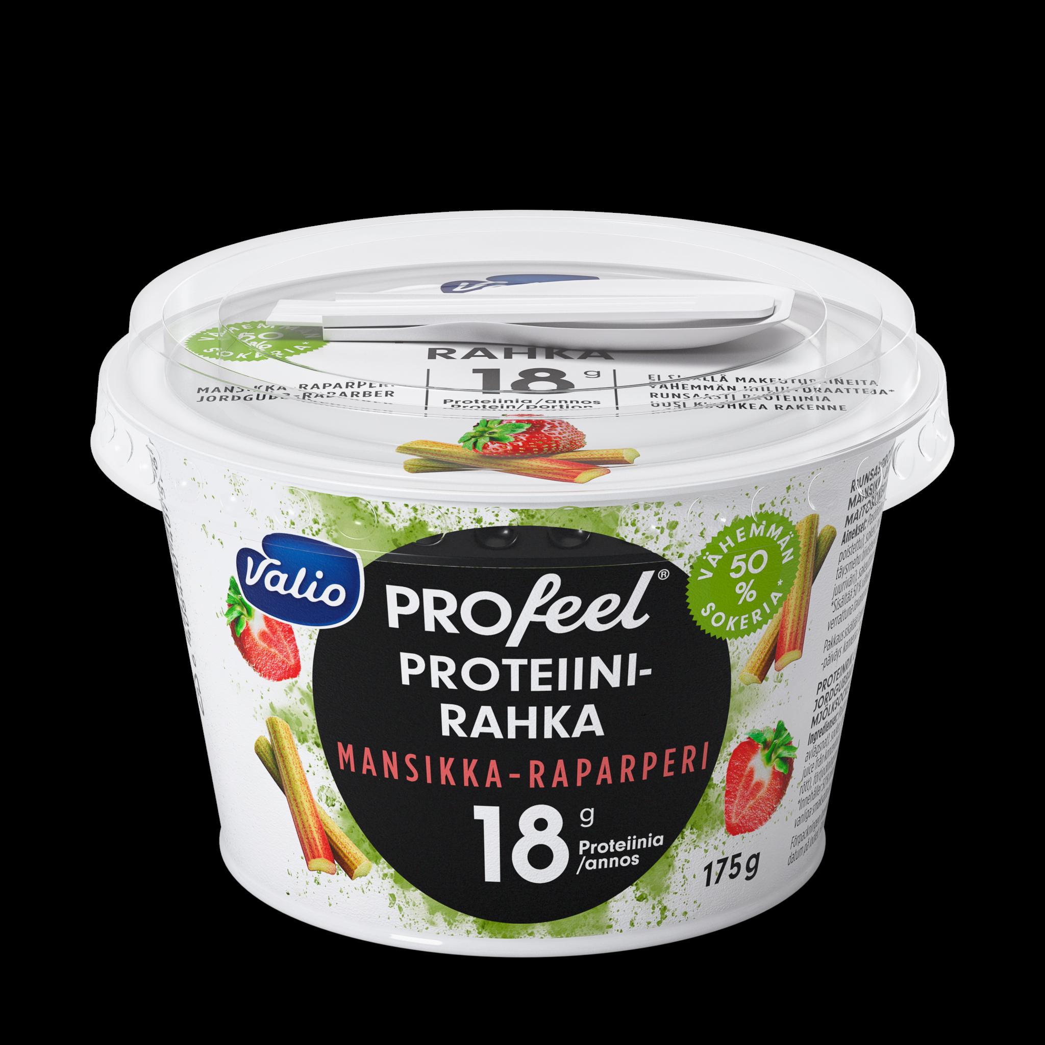 Valio PROfeel® proteiinirahka mansikka-raparperi